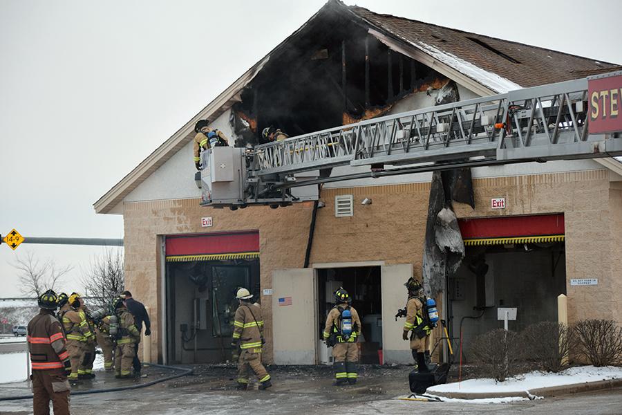 Crews Battle Christmas Eve Blaze; No Injuries