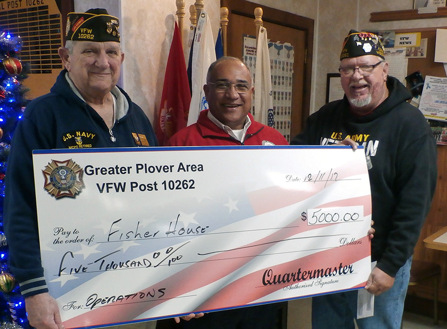 Plover VFW presents $8,000 in donations