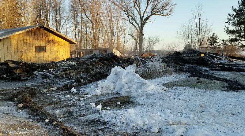 Dewey home total loss after Saturday night blaze