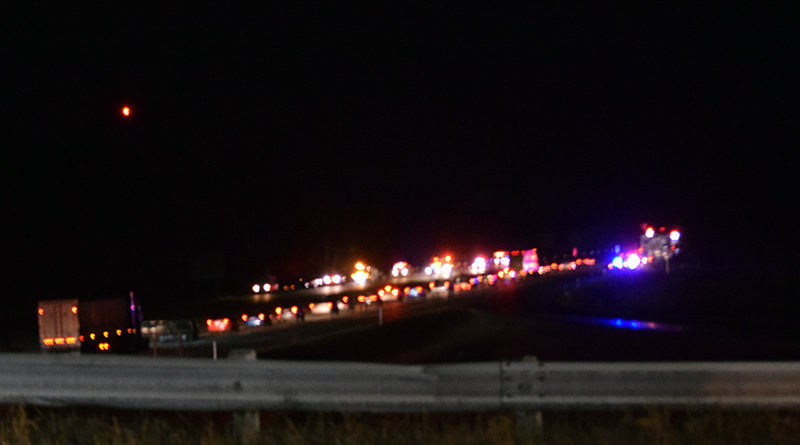 Two injured, one airlifted after eight vehicles crash on I-39