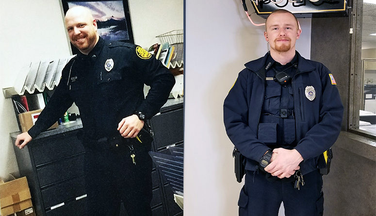 Two officers honored for lifesaving measures