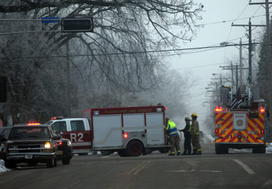 One injured in two-vehicle crash Saturday
