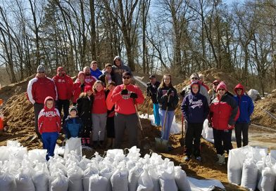 Volunteers lend a hand during historic flooding in Park Ridge, Plover