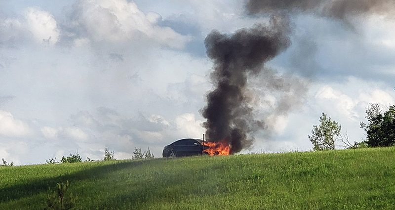 No injuries in Monday night car fire
