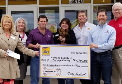 Team Schierl donates to Humane Society