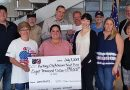 Group presents county veterans office with record check