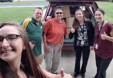 Worzalla employees donate over 500 lbs of school supplies