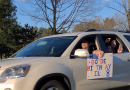 Plover girl, 8, delighted with drive-by birthday parade