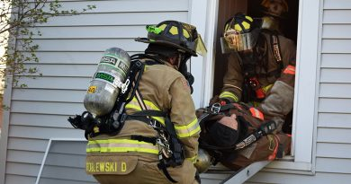 Plover FD trains to rescue down firefighters
