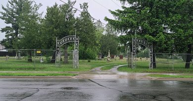 Public's help sought in finding stolen cemetery sign