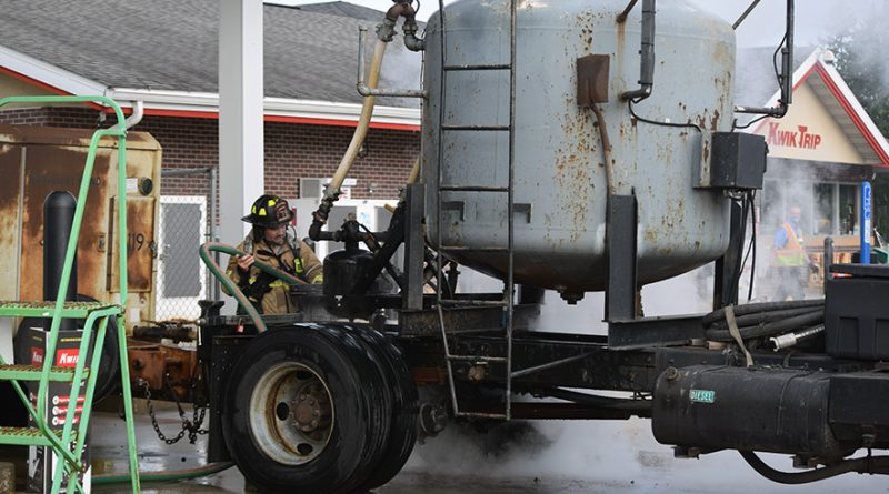 'Kwik' action from firefighters, employees, avert disaster
