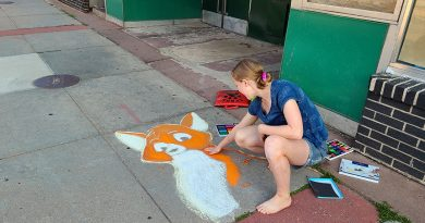 Stevens Point teen brings some joy to downtown