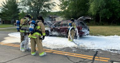 No injuries in Friday night car fire
