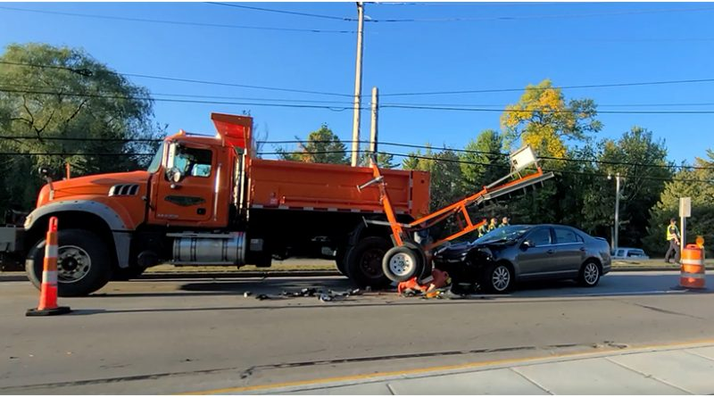 Thursday collision marks second work zone crash in one week