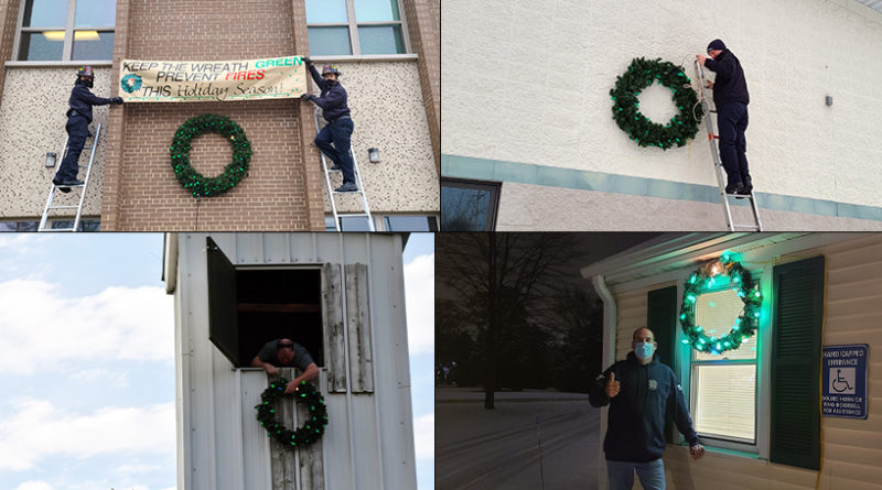 Fire departments kick off annual 'Keep the Wreath Green' campaign