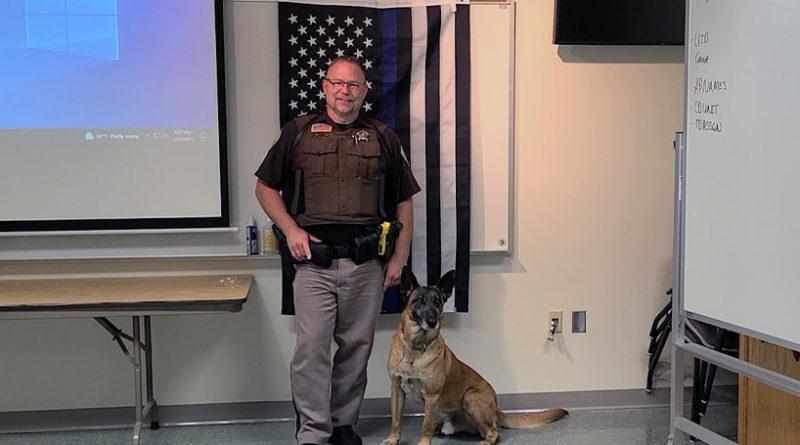 Portage Co. Sheriff's Office gives sendoff to deputy, K9