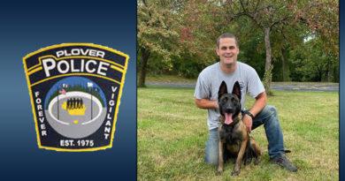 Plover to retire police K9 Bill, announces new dog, handler